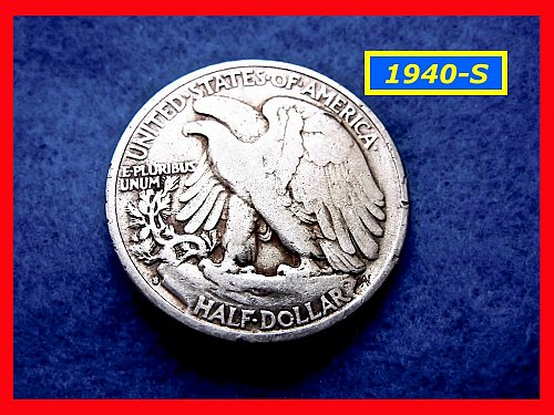 "1940-S  Liberty Walking Half  ★ ""Fine"" Condition  (#1672)a"
