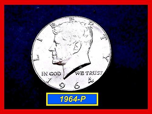 1964-P  Kennedy Half Dollar ☆  AU-55 ☆  (#1650)a
