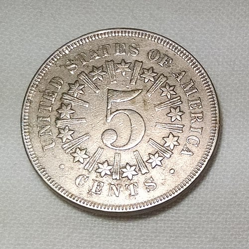 1866 P Shield Nickels: With Rays