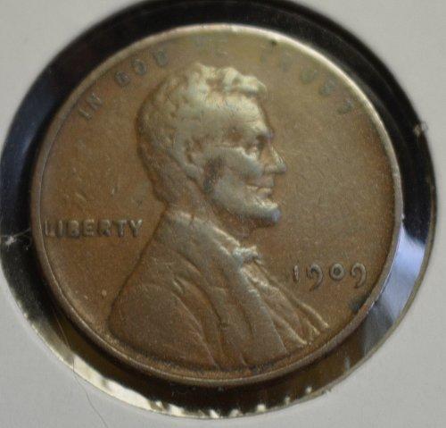 1909 VDB Lincoln Wheat Cent - RARE Cherrypicker Double Die