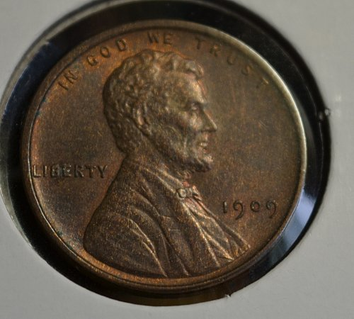 1909 VDB Lincoln Wheat Cent - Brown UNC