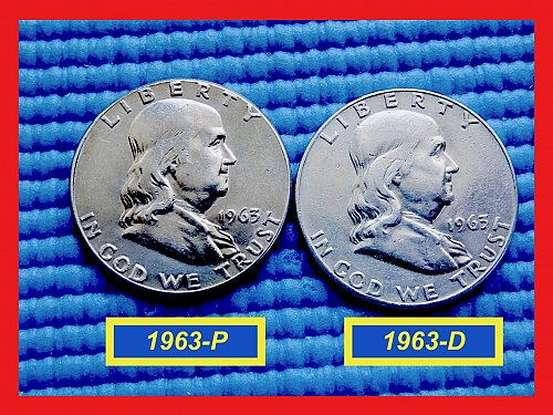 """TWO COIN Year-Set  ☆ 1963-P & 1963-D  ☆  """"VF-XF"""" ☆  (#1812)a"""