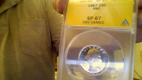 1967 SMS Washington Quarter SP 67 Obverse Cameo