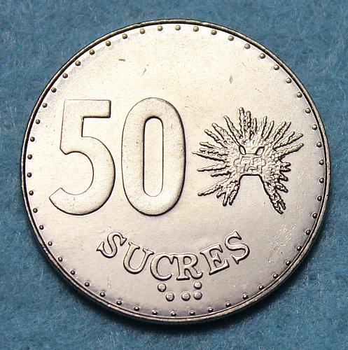 Ecuador 1991 50 Sucres