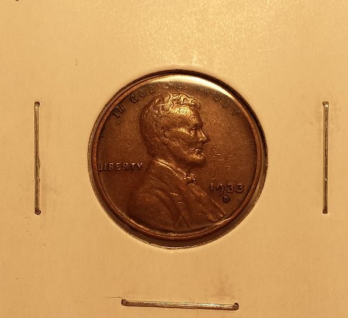 1933-D Lincoln Wheat Cent VF20