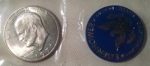1971 S Eisenhower Dollars: Silver Clad