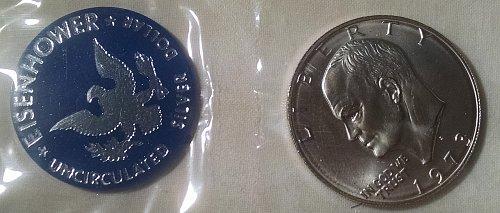 1973 S Eisenhower Dollars: Silver Clad