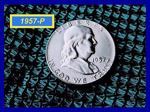 "1957 Franklin ✮   ✮ ""AU55 ✮  (#1802)a"