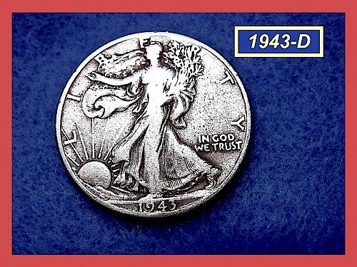 1943-D  Liberty Walking Half  ★  (#1600)a