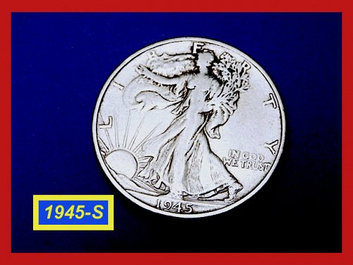 "1945-S  Liberty Walking Half  ★ ""Very Fine"" Condition  (#1794)a"
