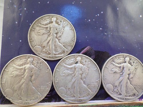 WOW A 1940 LOT 4 COINS FOR THE PRICE OF 3