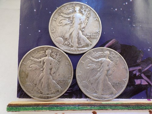 OH BOY ANOTHER 3 COIN LOT OF 1942 P-D-S COINS