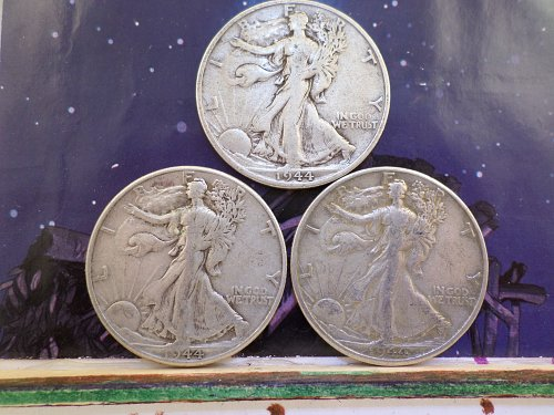 1944 P-D-AND S MINTS GREAT COINS LOW PRICE