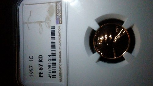 1957 ngc pf67 rd proof wheat penny