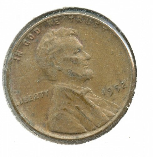 1952 P Variety lincoln Cent misstruck Liberty