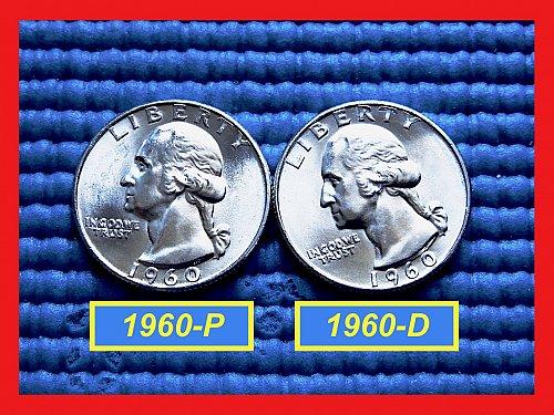 """2-Coin Year-Set ✬ 1960-P & 1960-D Quarters ✬ """"BU"""" ✬(#2785)a"""