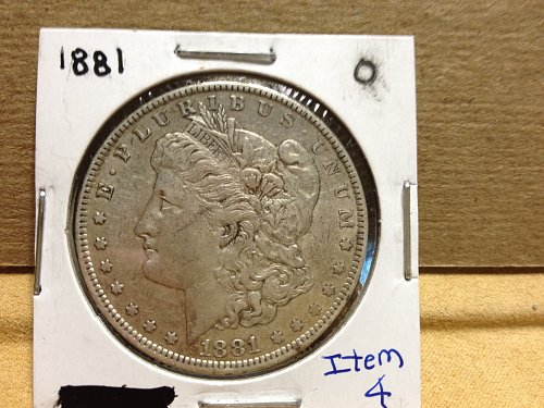 1881 0 Morgan Dollar item 4