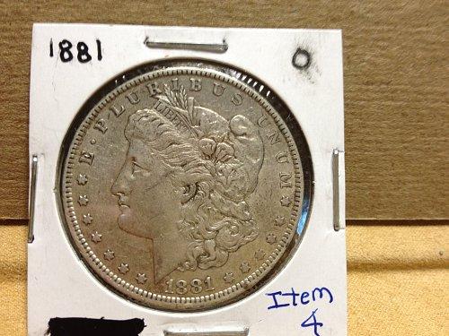 1881 0 Morgan Dollar item 4