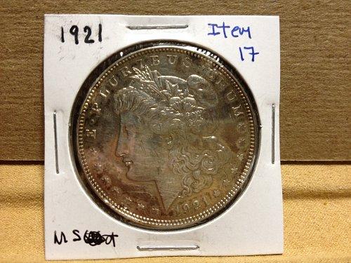 1921 Morgan Dollar toned item17