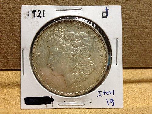 1921 D Morgan Dollar item 19