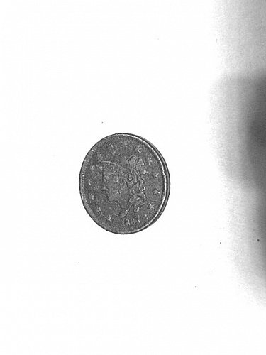 1837 Head of 1838 Coronet Head Large Cent  VF