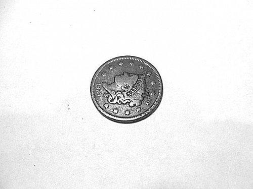 1837 head of 1838  Coronet Head Large Cent  F