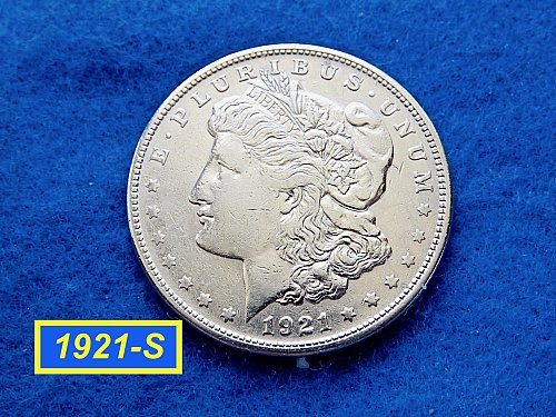 1921-S Morgan Silver Dollar ☆ Nice Circ Morgan Dollar ☆  (#5411)