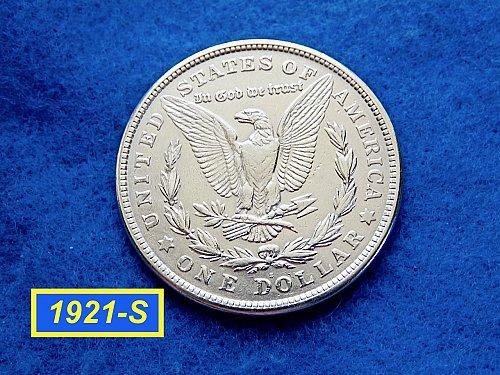 1921-S Morgan Silver Dollar ☆ Nice Circ Morgan Dollar ☆ (#5411)