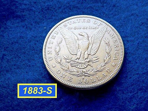 1883-S Morgan Silver Dollar ★  Circulated ★   (#5408)a