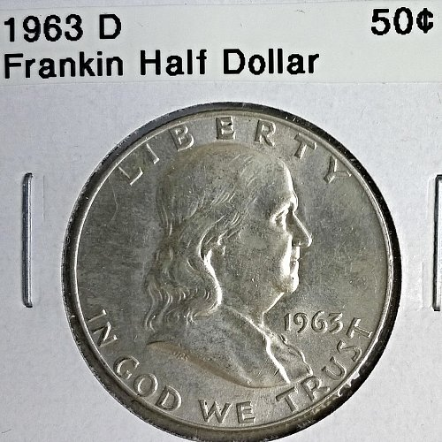 1963 D Franklin Half Dollar - 6 Photos!