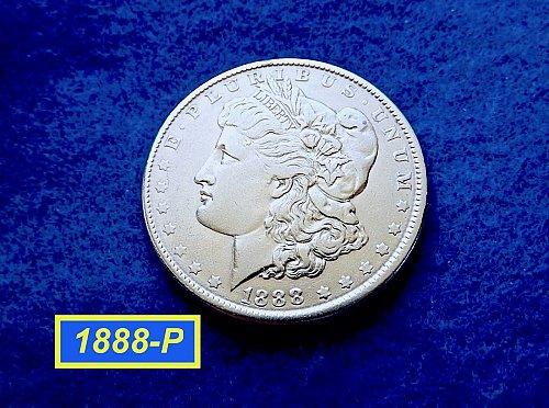 1888-P Morgan Silver Dollar ★  Circulated ★   (#5409)