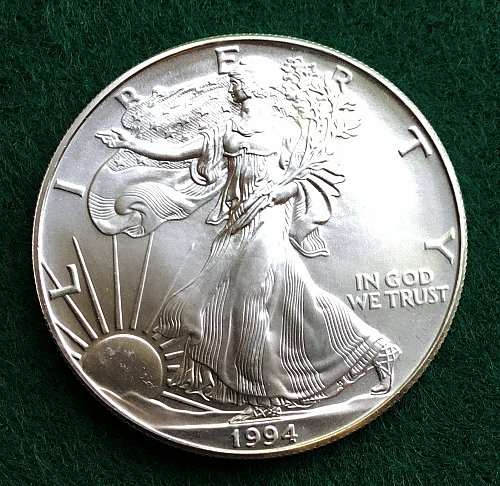 1994 Silver American Eagle- Uncirculated   /  DR-55