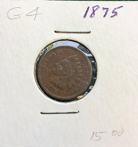 1875 Indian Head  Penny    /   WM-69