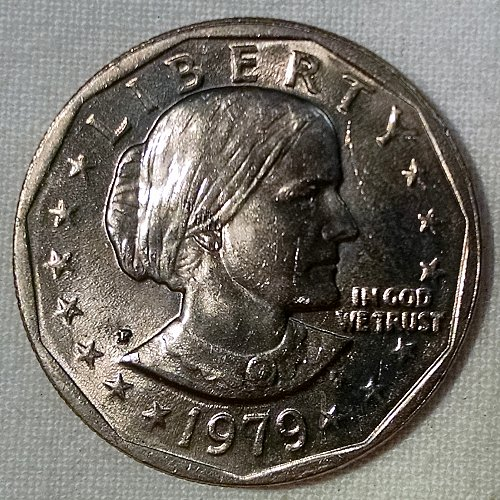 1979 P Susan B Anthony Dollars: Narrow Rim - Far Date