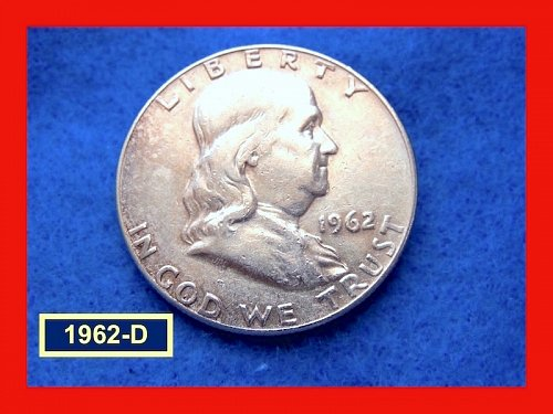 1962-D Franklin Half  ☆ Circulated CONDITION ☆   (#1616)a
