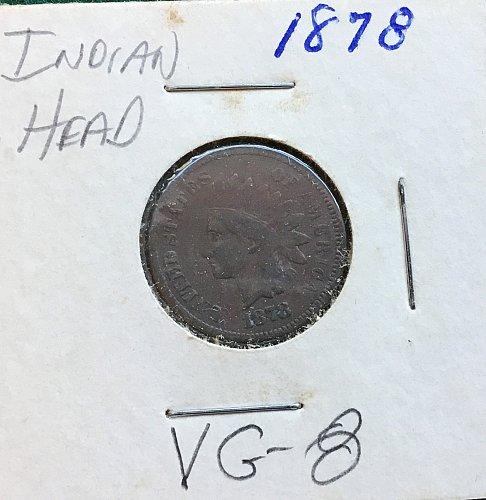 1878 Indian Head Penny   /   WM-70