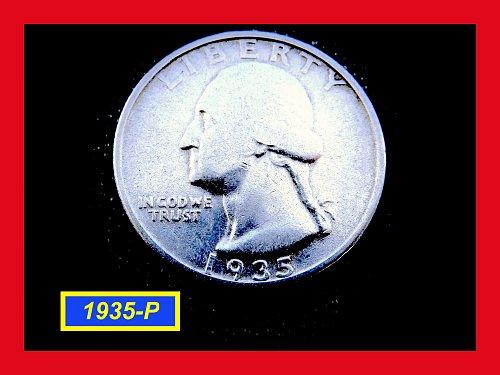 "1935-P  ""XF"" Washington Quarter  ✬  ✬  ✬  (#2665)a"