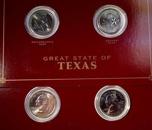 Texas State Quarter P and D Mint Set
