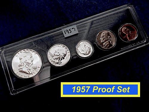 1957 PROOF SET ✬ Original US Mint Holder ✬ (#9121)a