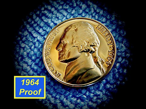 "1964  Proof Nickelr  ✬  ""DCAM""   ✬  (#6432)a"