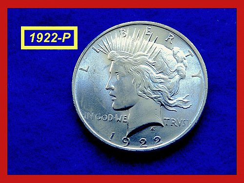 1922-P  PEACE Dollar — Brilliant Uncirculated  –  (#5406)a