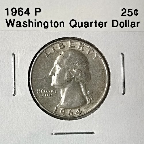 1964 P Washington Quarter Dollar