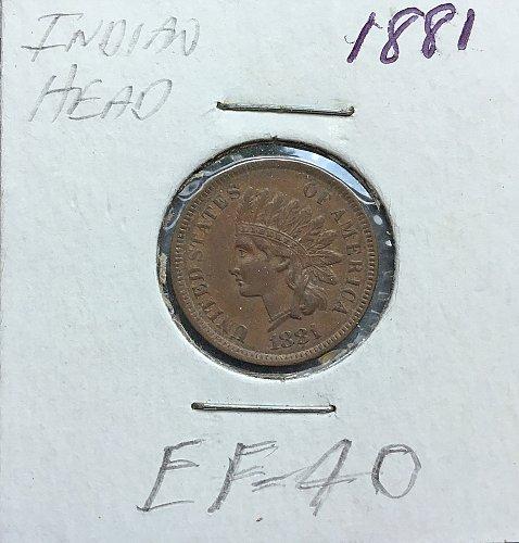 1881   Indian Head Penny   /   WM-73
