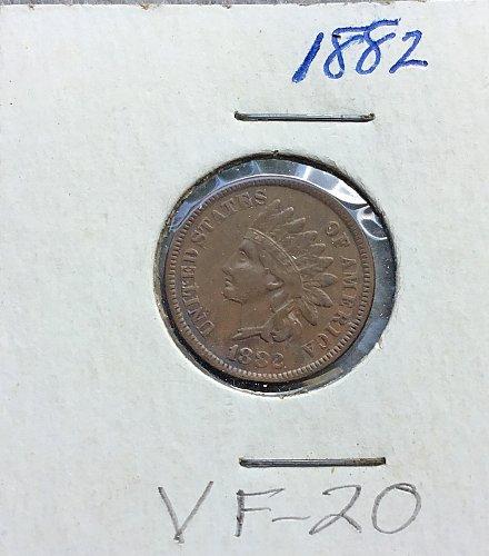 1882 Indian Head  Penny    /   WM-74