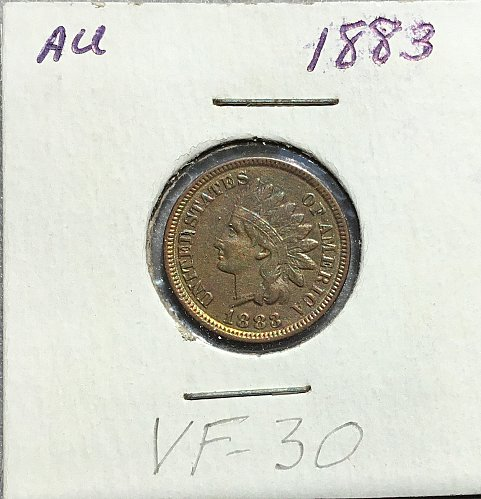1883 Indian Head Penny   /   WM-75