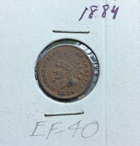 1884 Indian Head Penny   /   WM-76