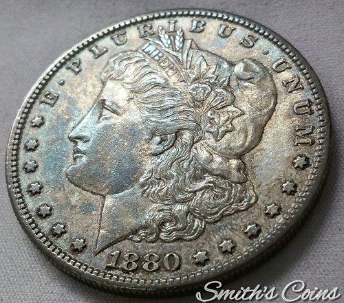 1880 S Morgan Dollar ~ AU