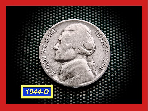 1944-D  Wartime Silver Nickel ✬  ✬  (#6412)a