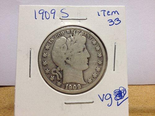1909 S Barber Half Dollar item33