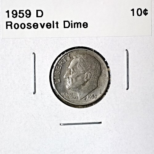 1959 D Roosevelt Dime - 6 Photos!